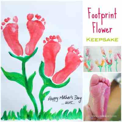 Footprint Flower Keepsake
