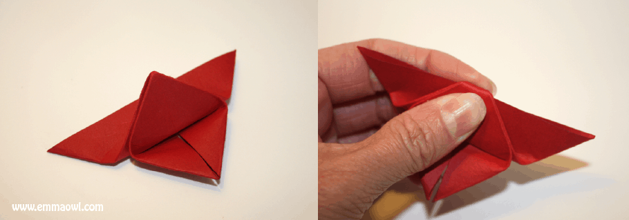 Step by Step Instructions for watercolor origami butterflies