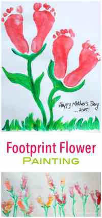 This footprint painted flower is a wonderful - easy - kids art project! Makes lovely gifts!