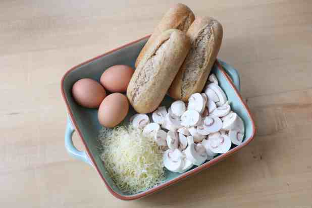 ingredients for all in one breakfast roll