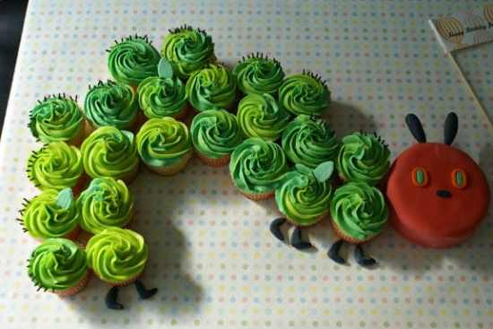 The Very Hungry Caterpillar Party Cupcakes