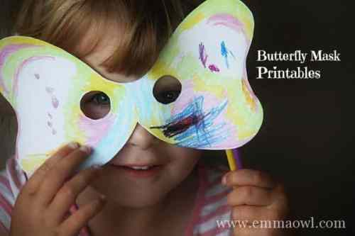 Butterfly Mask Printables
