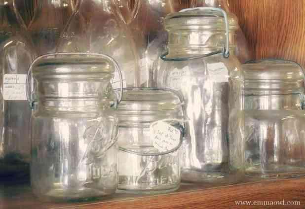 Glass Jar Chalk Paint Craft