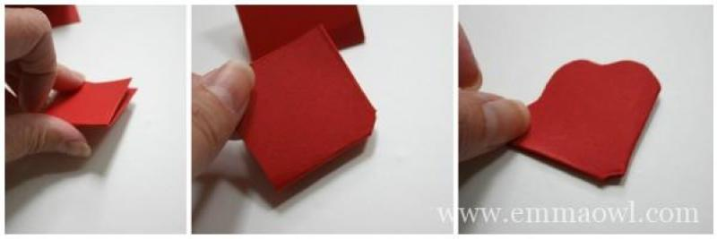 How to Make a paper flower - step 3