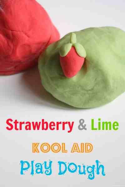 Strawberry and Lime Kool Aid Play Dough
