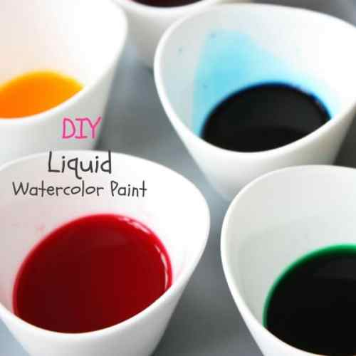 DIY Liquid Watercolor Paint