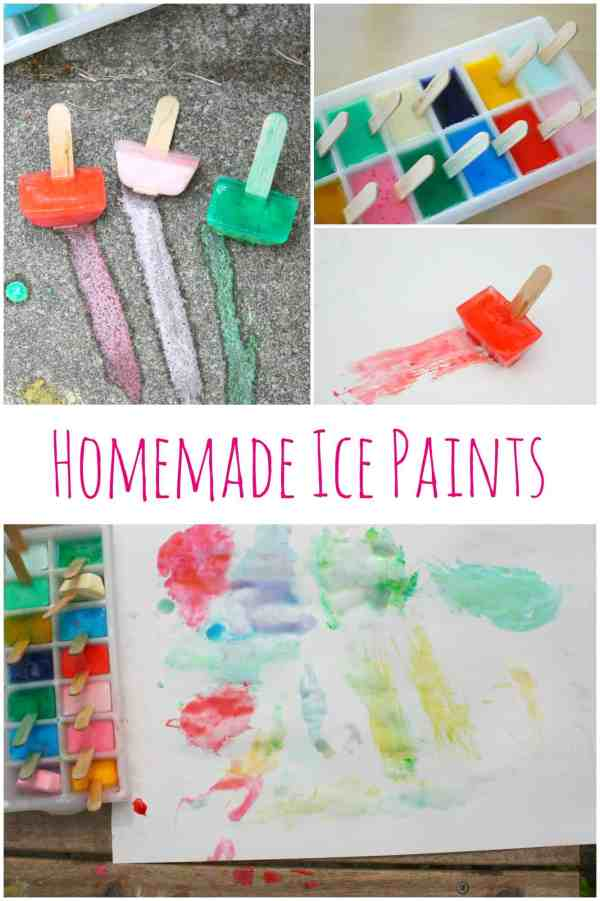 Homemade Ice Paints