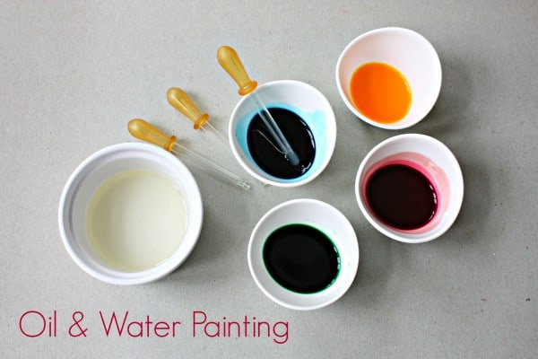 Painting with Oil and Water - science meets art