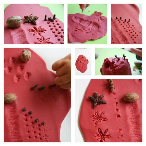Apple Pie Play Dough Printing