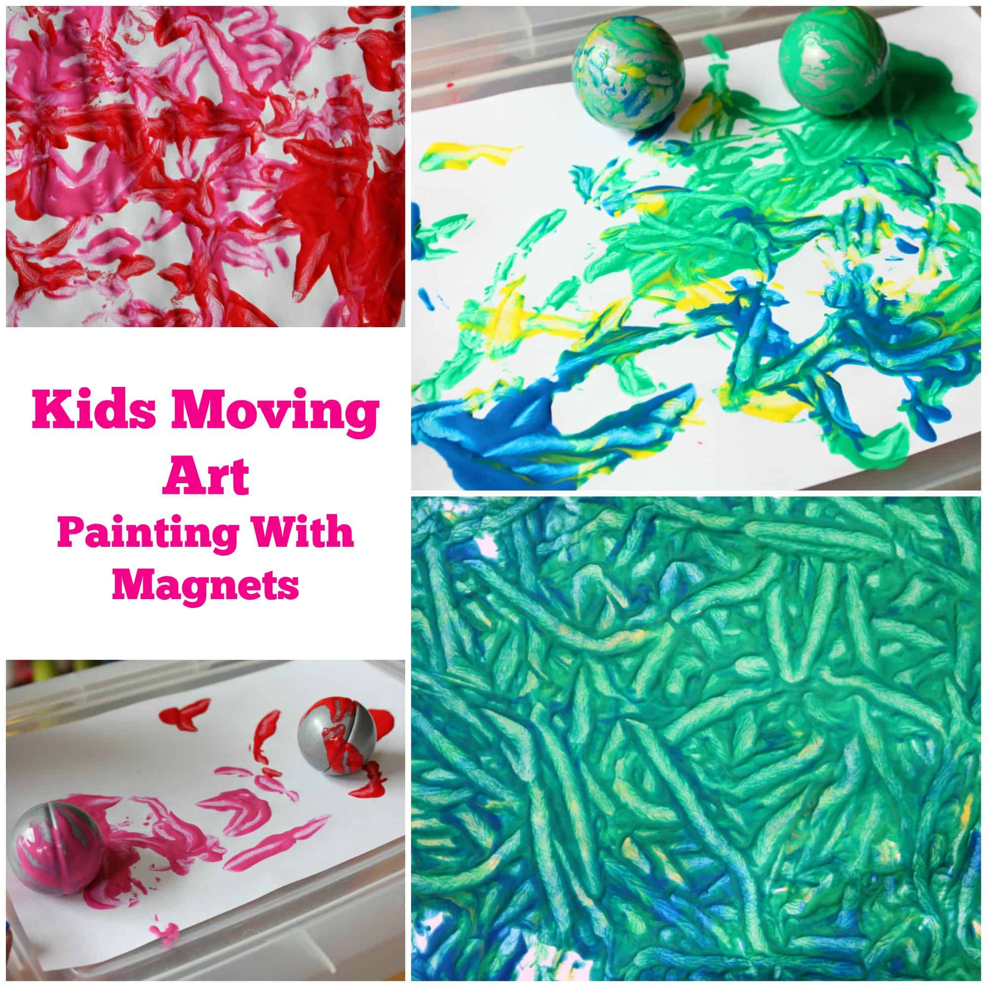Painting With Magnets Moving Art Activity