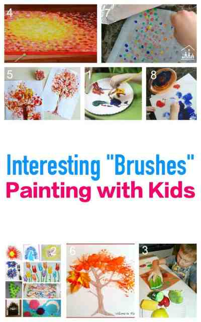 Paint without using a paintbrush. Explore these interesting paint brush - or paint tool - ideas