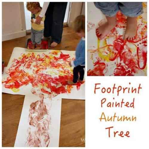 Footprint Painted Autumn Tree