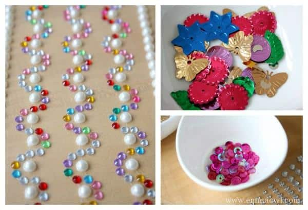 Jewels for the princess puppet dresses