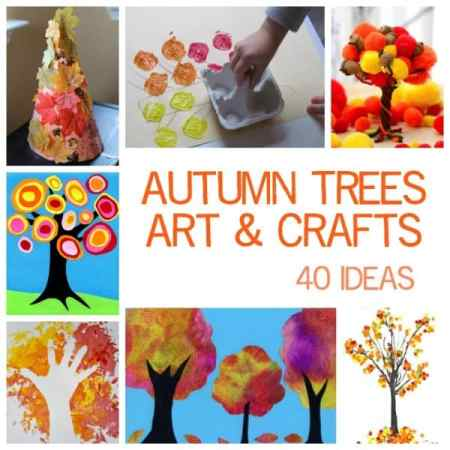 40 Kids Fall Tree Art and Craft Ideas