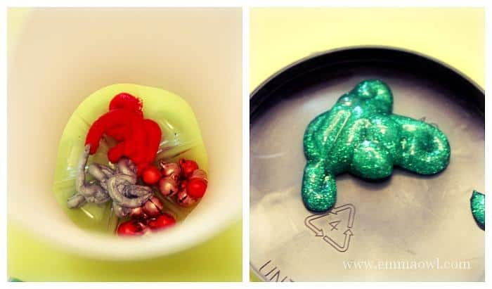 Adding Paint to the Jingle Bells Christmas Activity