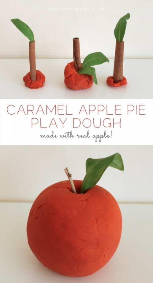 Caramel-Apple-Pie-Play-Dough-made-with-real-apple-Mama.Papa_.Bubba_.