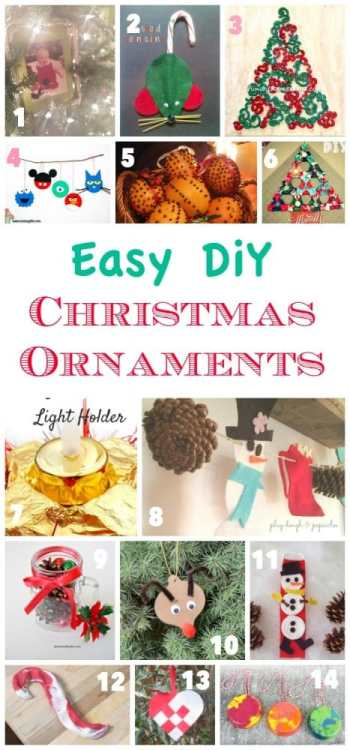 Easy DiY Christmas Ornament to make for the Hlolidays