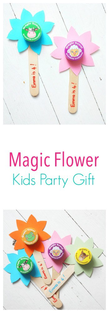 These magic flowers make such a great party gift - kids love them and they are so easy to make!