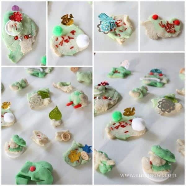 Invitation to Play with Christmas Play Dough