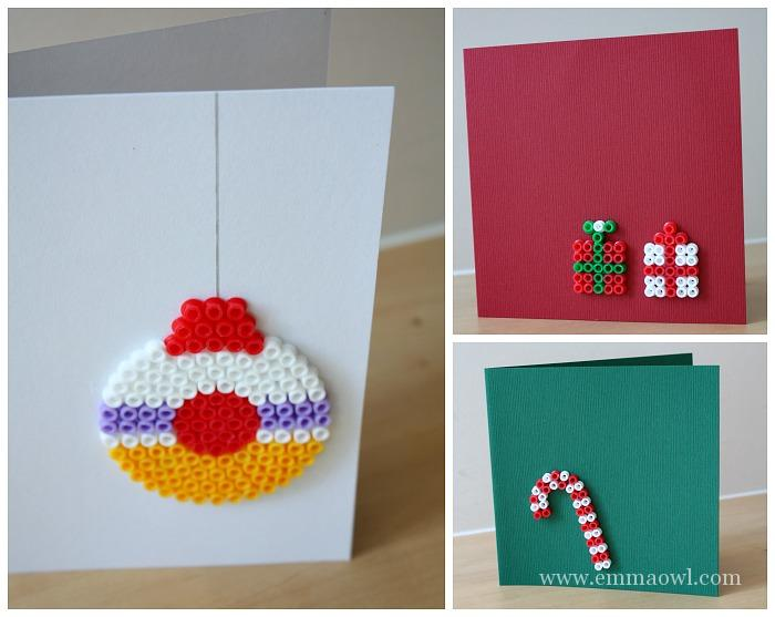 Melty Bead Christmas Greeting Cards