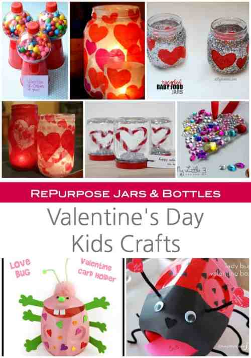 RePurpose Jars and Bottles to make some pretty gorgeous Valentines Day Craft