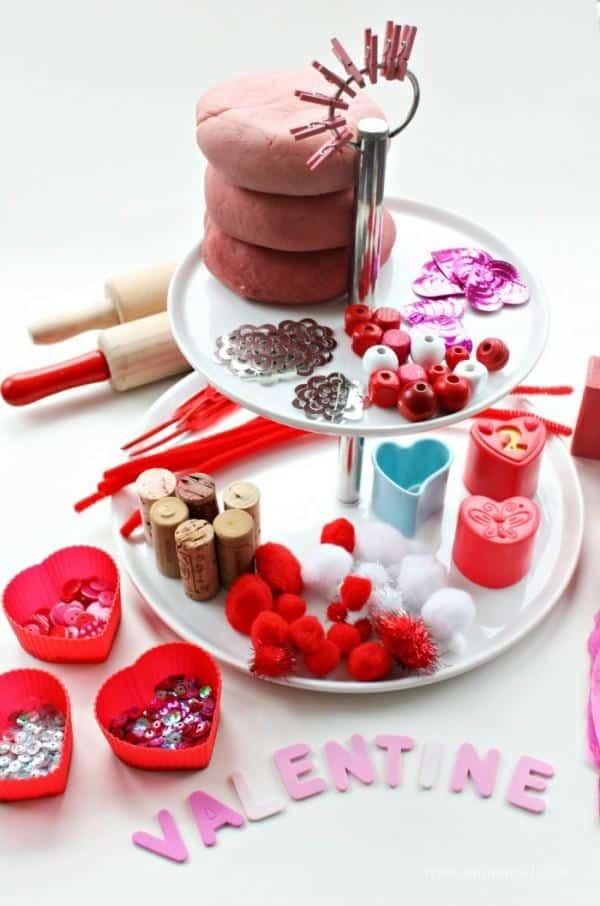 play dough valentines ideas