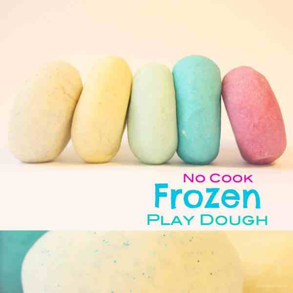 No cook Frozen play dough - easy and fast to make