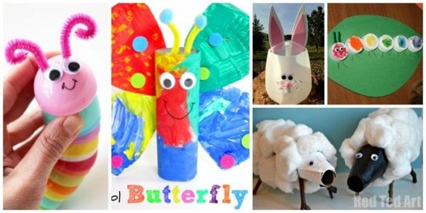 recycled animal crafts for kids