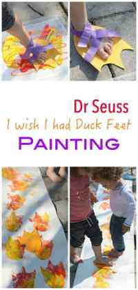 I wish I had Duck Feet by Dr Seuss is such a lovely story about learning to love yourself! Makes for a wonderful kids craft activity - a painting craft that will end up with squeals of laughter!