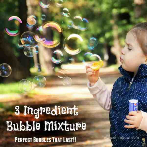 3 Ingredient Bubble Mixture
