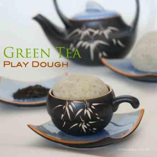 Green Tea PlayDough Recipe for Children