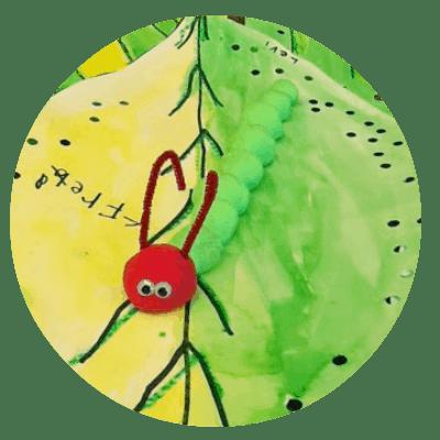 clay caterpillars