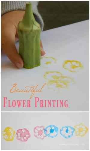 Beautiful Flower Printing Idea! This is a wonderful kids art and craft project!