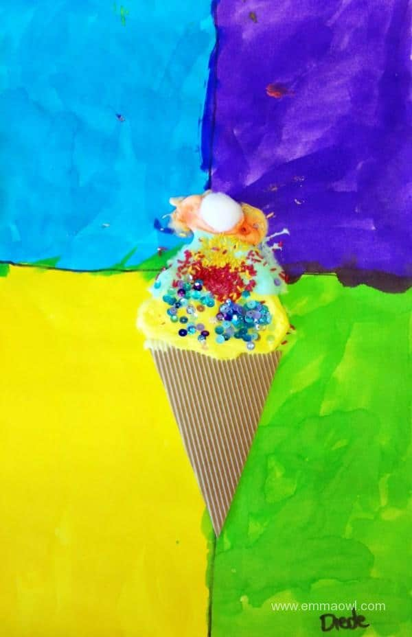 Ice Cream Painting with Puffy Paint