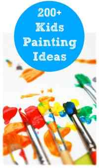 More than 200 Painting Ideas for Kids. This collection was put together by 50 child and parenting bloggers!