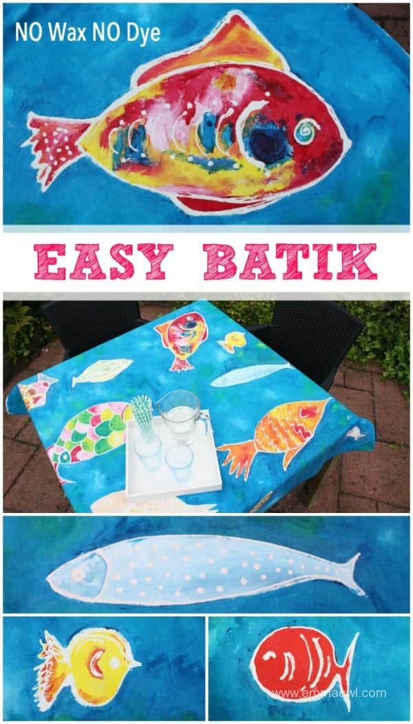 EASY to make Batik - NO Wax or Dye needed! Perfect for Kids Art Projects! Make great gifts!