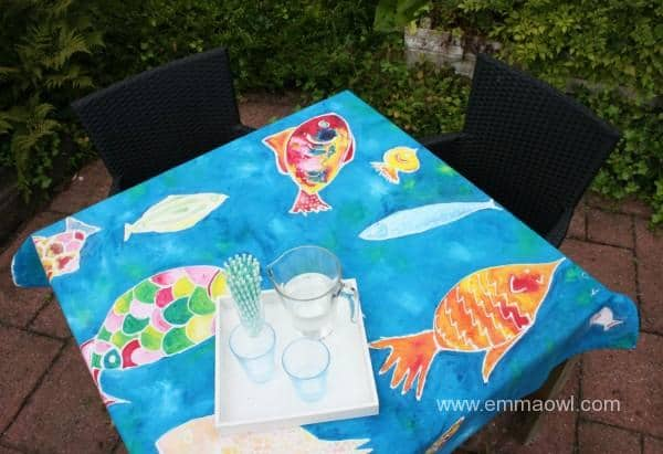Table Cloth Made using EASY Batik