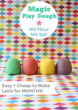 Magic Play Dough - Easy and Cheap to make and it lasts for month! Make some now!