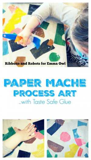 Paper Mache Art Idea for Children - with taste safe glue so perfect idea for all ages - even toddlers!