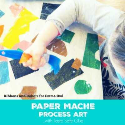 Paper Mache Process Art with Taste Safe Glue