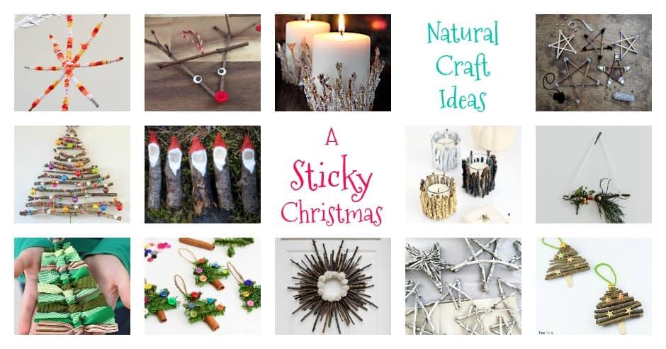 Kids Natural Sticky Christmas Crafts Emma Owl