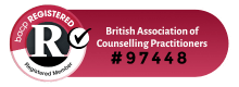 BACP registered counsellor badge
