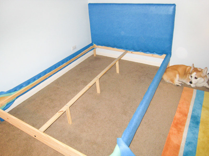 How to Reupholster Bed Frame Ikea Fjellse Tutorial