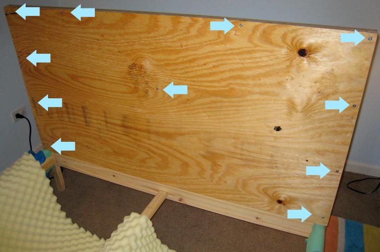 DIY headboard - where to screw