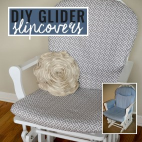DIY Glider Slipcovers Tutorial Before After