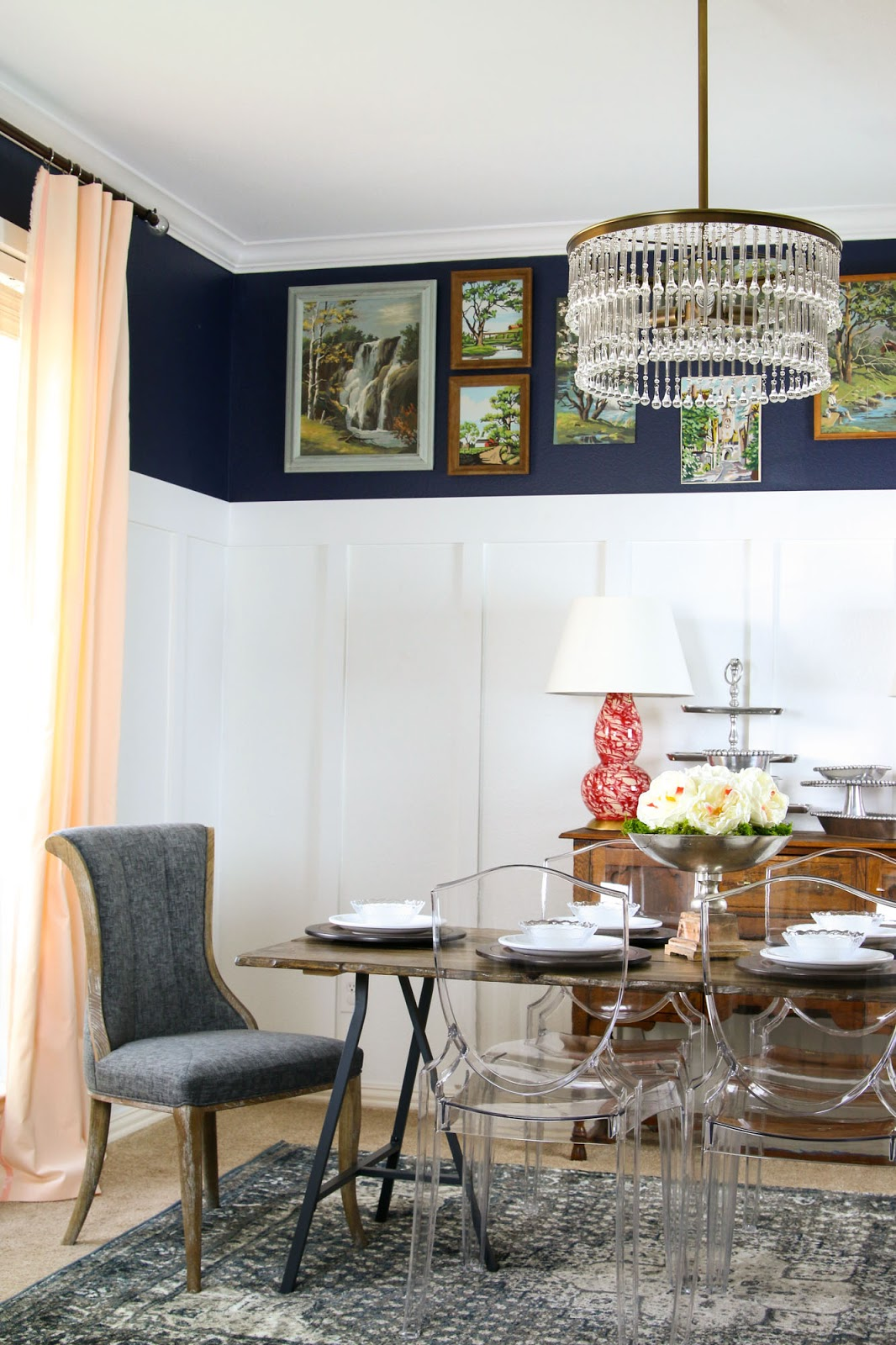 Eclectic dining room makeover