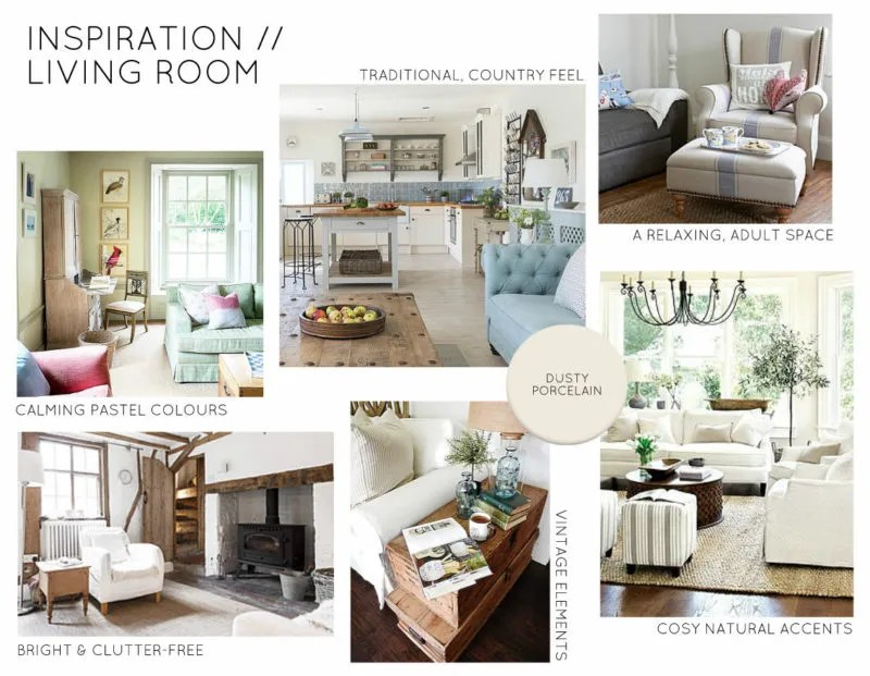 Inspiration Board Country Living Room