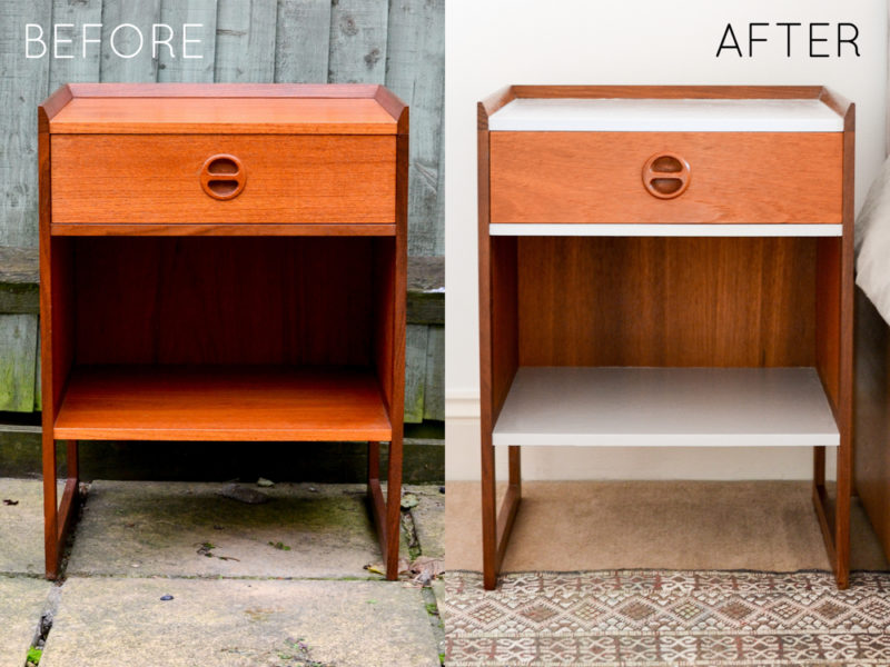 DIY Refinished Mid-Century Night Stands Before & After-2