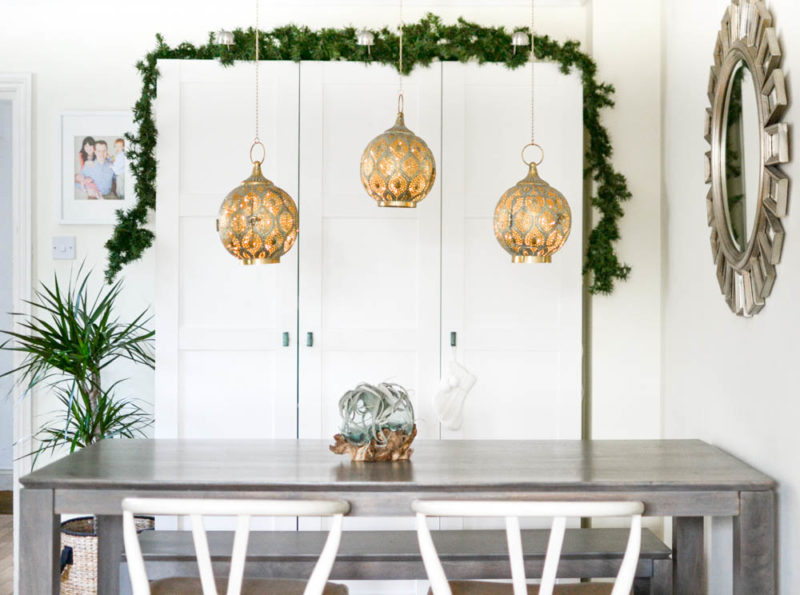 Natural Garland Christmas Decorating Moroccan Lanterns