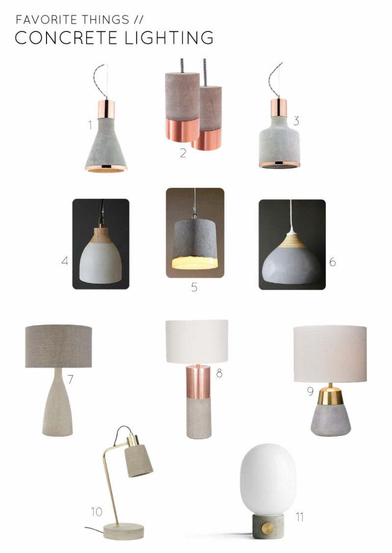 Favorite Things - Concrete Lighting